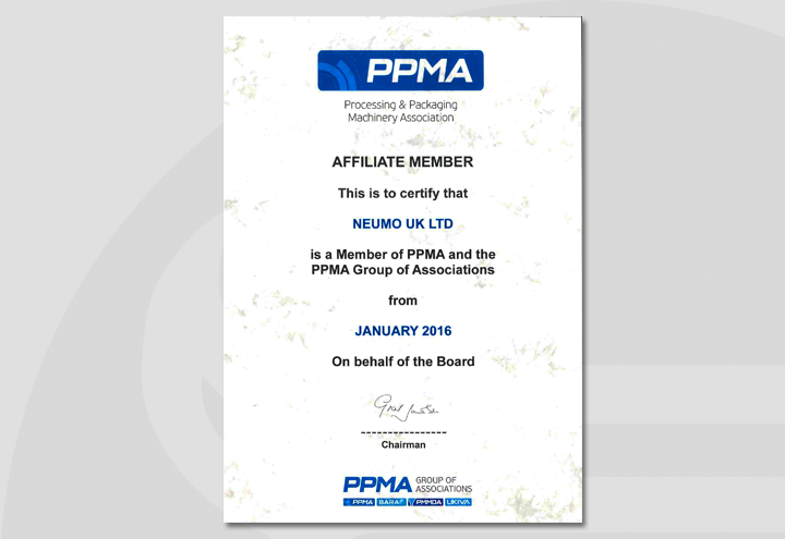 PPMA Processing & Packaging Machinery Association AFFILIATE MEMBER